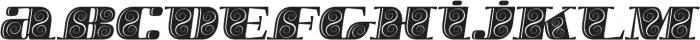 Boldesqo Serif 4F Decor Italic otf (700) Font LOWERCASE