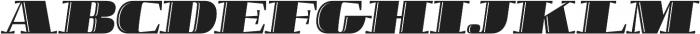 Boldesqo Serif 4F Inline Italic otf (700) Font UPPERCASE