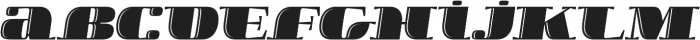 Boldesqo Serif 4F Inline Italic otf (700) Font LOWERCASE