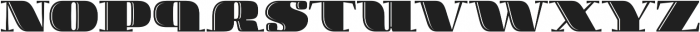 Boldesqo Serif 4F Inline otf (700) Font LOWERCASE