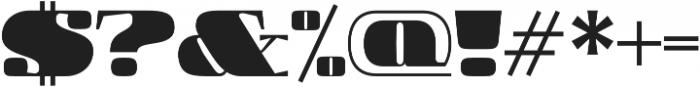 Boldesqo Serif 4F otf (700) Font OTHER CHARS