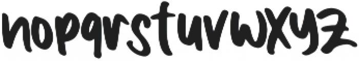 Boldey Typeface otf (700) Font LOWERCASE