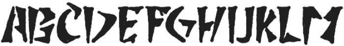 Boldpress Typeface otf (700) Font UPPERCASE