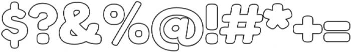 Boltz Outline otf (400) Font OTHER CHARS