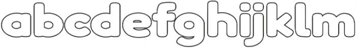 Boltz Outline otf (400) Font LOWERCASE