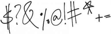 Bombshell Script otf (400) Font OTHER CHARS