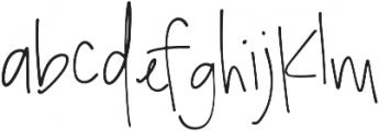 Bombshell Script otf (400) Font LOWERCASE