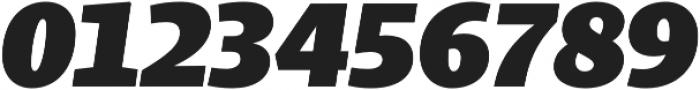 Bommer Slab Black Italic otf (900) Font OTHER CHARS
