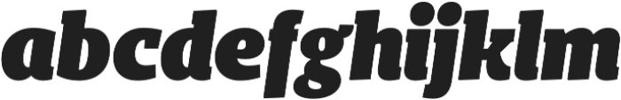 Bommer Slab Black Italic otf (900) Font LOWERCASE