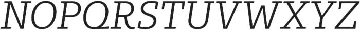 Bommer Slab Light Italic otf (300) Font UPPERCASE