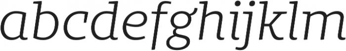 Bommer Slab Light Italic otf (300) Font LOWERCASE