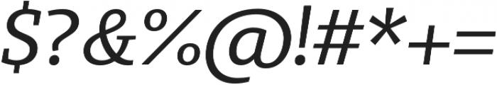 Bommer Slab Regular Italic otf (400) Font OTHER CHARS