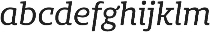 Bommer Slab Regular Italic otf (400) Font LOWERCASE