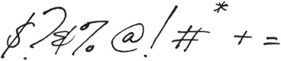 Bon Vivant otf (400) Font OTHER CHARS