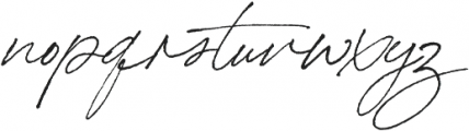Bon Vivant otf (400) Font LOWERCASE