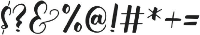 Bonalisha otf (400) Font OTHER CHARS