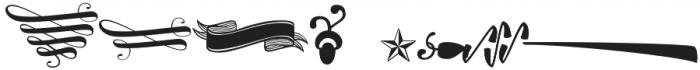 Bonbon Ornaments Light Regular otf (300) Font OTHER CHARS