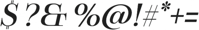 Boncaire Titling Medium Ital otf (500) Font OTHER CHARS