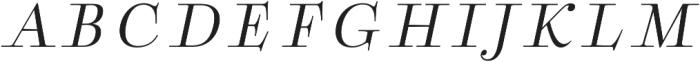 Boncaire Titling Regular Ital otf (400) Font LOWERCASE