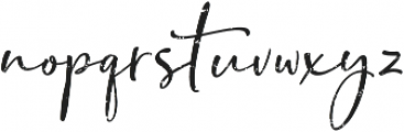 Bondi Sans Script Rough ttf (400) Font LOWERCASE
