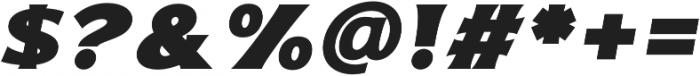 Bonega Black Italic otf (900) Font OTHER CHARS