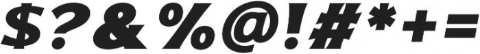 Bonega Bold Italic otf (700) Font OTHER CHARS