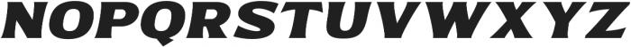 Bonega Bold Italic otf (700) Font UPPERCASE