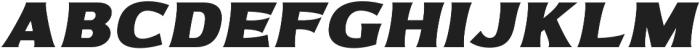 Bonega Bold Italic otf (700) Font LOWERCASE
