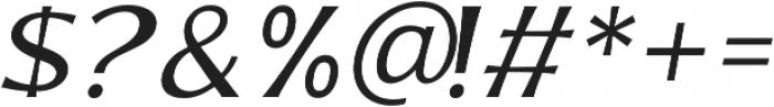 Bonega Light Italic otf (300) Font OTHER CHARS