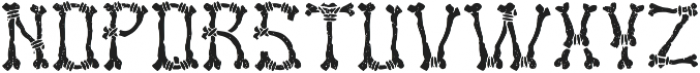 Bones Aged otf (400) Font UPPERCASE