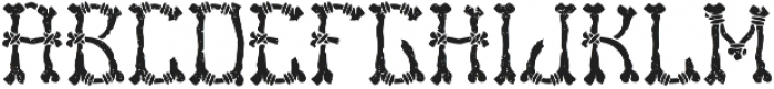 Bones Aged otf (400) Font LOWERCASE