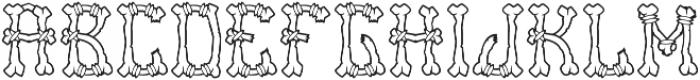 Bones Outline otf (400) Font LOWERCASE