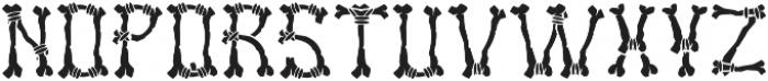 Bones Regular otf (400) Font UPPERCASE