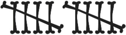 Bonestyle ttf (400) Font UPPERCASE