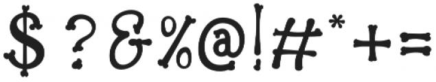 Bonesyle otf (400) Font OTHER CHARS