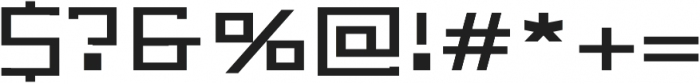 Bonic otf (400) Font OTHER CHARS