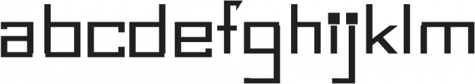 Bonic otf (400) Font LOWERCASE