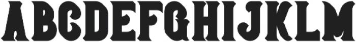 Bonneville Extrude otf (400) Font LOWERCASE