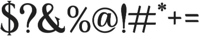 Bonsano otf (400) Font OTHER CHARS