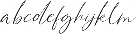 Bonstage otf (400) Font LOWERCASE