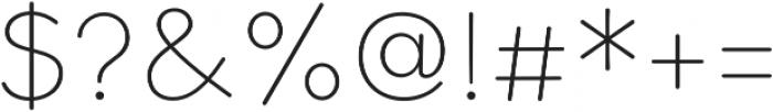 Bookbag Alt Light otf (300) Font OTHER CHARS