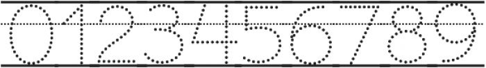 Bookbag Alt Lined Dotted otf (400) Font OTHER CHARS