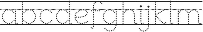 Bookbag Alt Lined Dotted otf (400) Font LOWERCASE