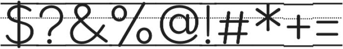 Bookbag Alt Lined otf (400) Font OTHER CHARS