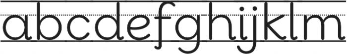 Bookbag Alt Lined otf (400) Font LOWERCASE