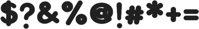 Bookbag Display otf (400) Font OTHER CHARS