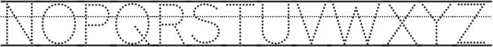 Bookbag Lined Dotted otf (400) Font UPPERCASE