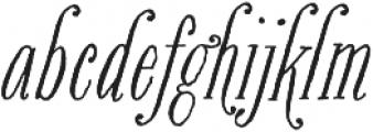 Bookeyed Suzanne Regular otf (400) Font LOWERCASE