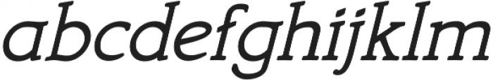 Bookish otf (400) Font LOWERCASE