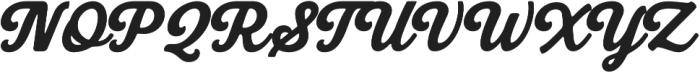 Bookman Script otf (400) Font UPPERCASE